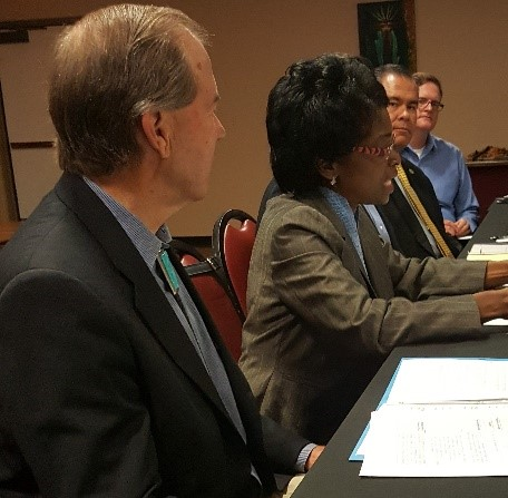 A roundtable session with the Senator, Congressman, State legislators, State commissioners in NM