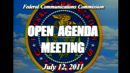 July 12 open meeting, video frame
