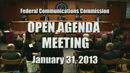 Open Commission Meeting - January 31, 2013