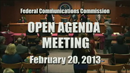 Open Commission Meeting - February 20, 2013