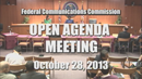 Open Commission Meeting - October 28, 2013