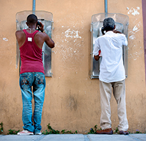 Cuba pay phones