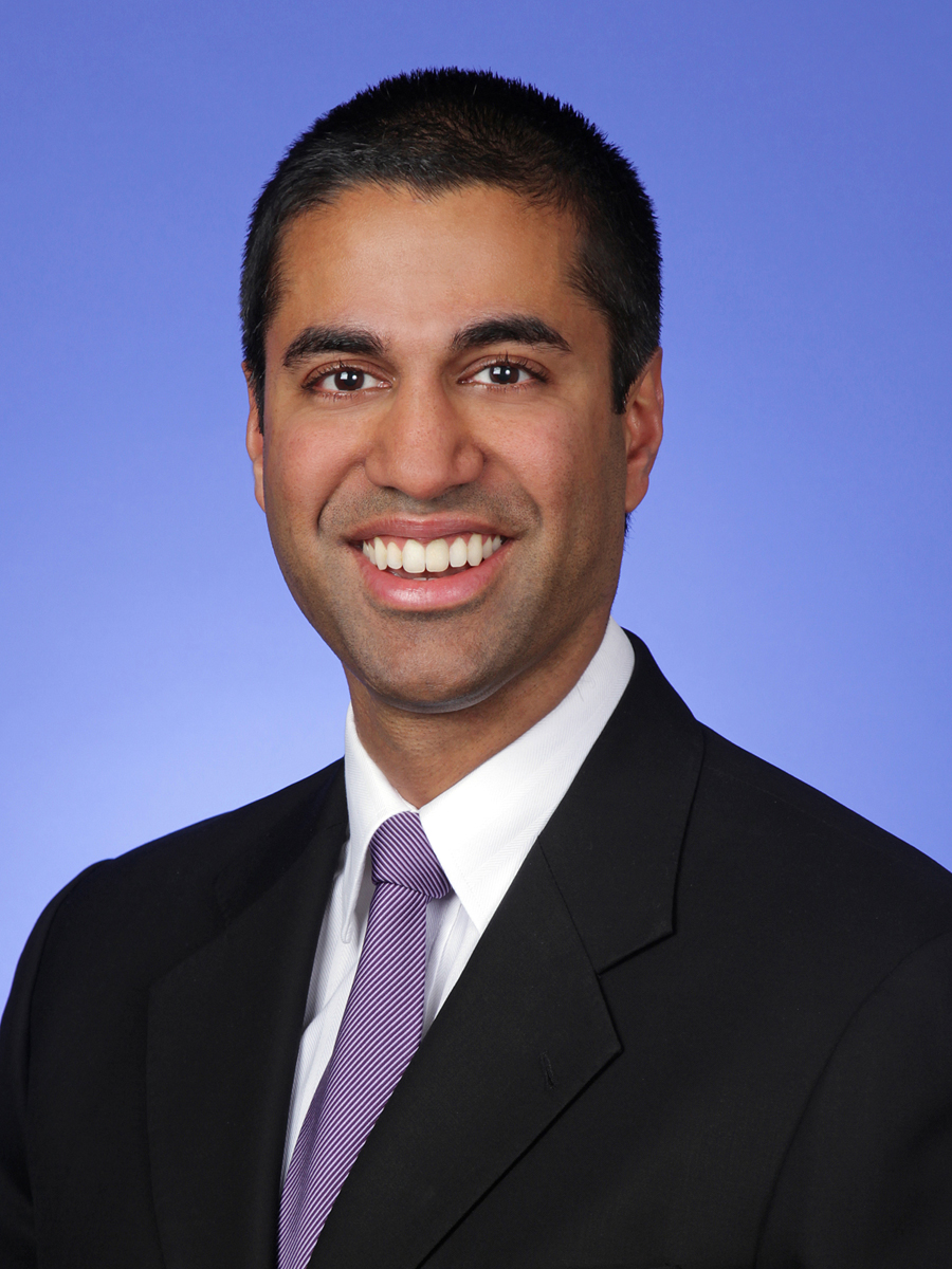Chairman Ajit Pai click for press photo