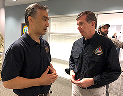 Zenji Nakazawa, and North Carolina Governor Roy Cooper.