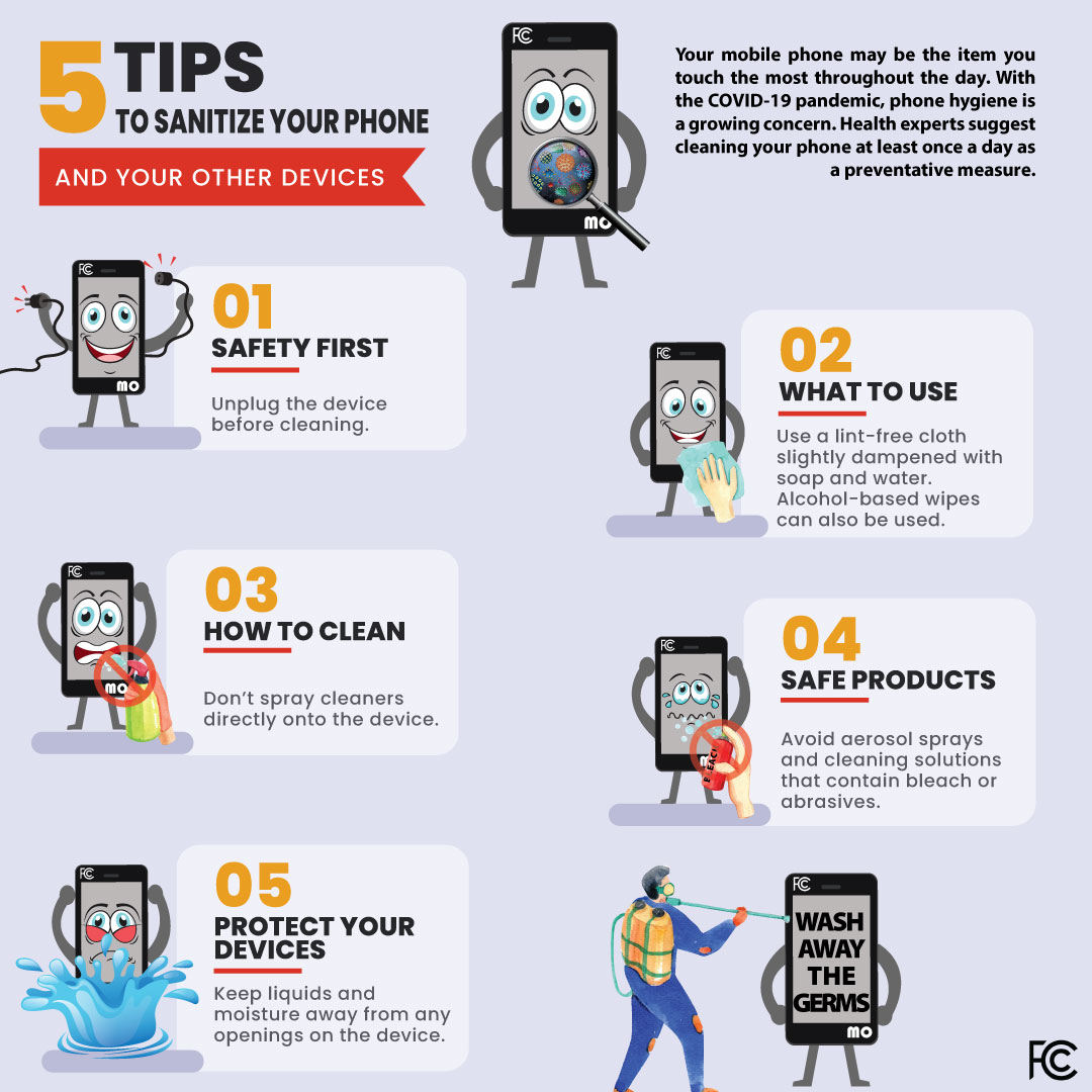 Five tips to sanitize your phone