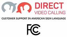 Direct Video Calling - Customer Support in American Sign Language