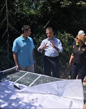 Chairman Pai met with Liberty crews working to restore service outside Utuado.