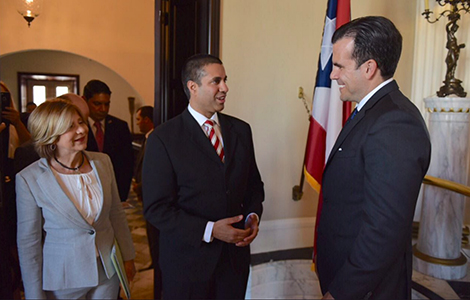 With Ricardo Rosselló, Governor of Puerto Rico.