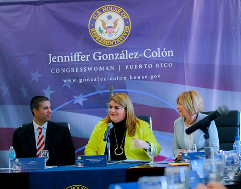 With Jenniffer González-Colón, Congresswoman for Puerto Rico.