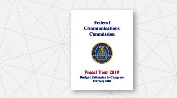 Cover Page of FCC FY 2019 Congressional Budget Request