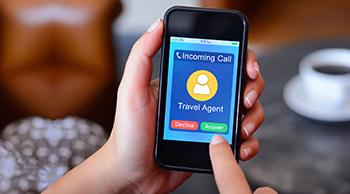 Incoming Call on Smart Phone Screen