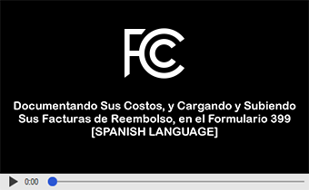 Click to play video: Documentando Costos en el Formulario 399